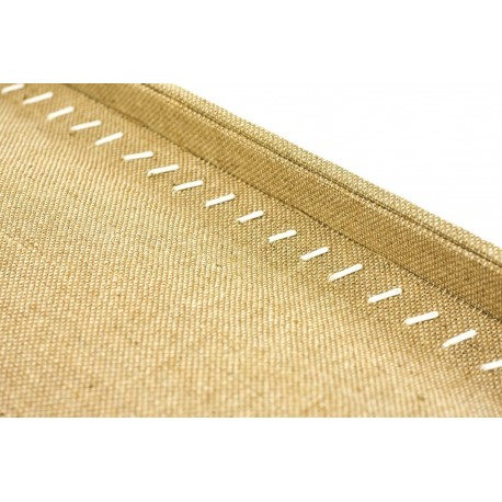 Bandeja expositora para cadenas y pulseras en lino grueso 35 cm