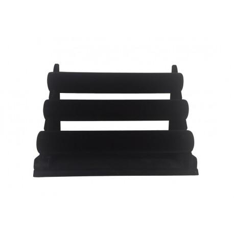 Expositor para pulseras en terciopelo negro 3 alturas 43x26x cm