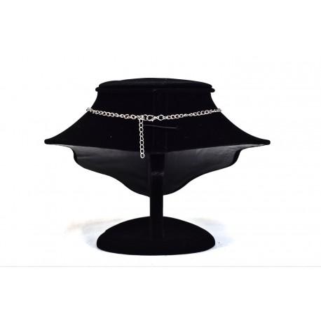 Busto expositores para collares en terciopelo negro 20 cm