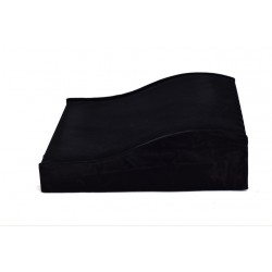 Expositor para pulseras en terciopelo negro 20x20 cm