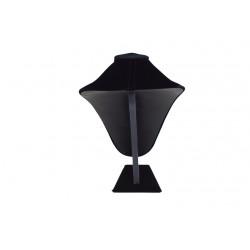 Busto expositor para collares en terciopelo negro 33 cm