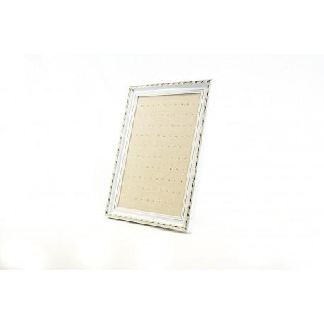 Marco expositor para pendientes en lino beige 25x35cm