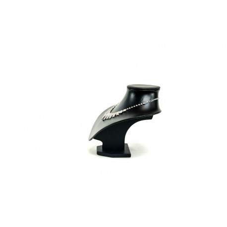 Busto expositor para collares enpolipiel negro 19 cm