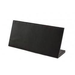 Expositor de pulseras horizontal en polipiel negro 25x11 cm