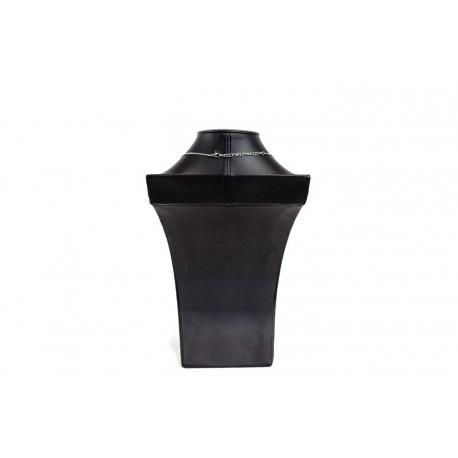 Busto expositor para collares en polipiel negro 30 cm
