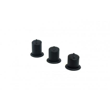 Conjunto expositor para anillos en polipiel negro a 3 alturas