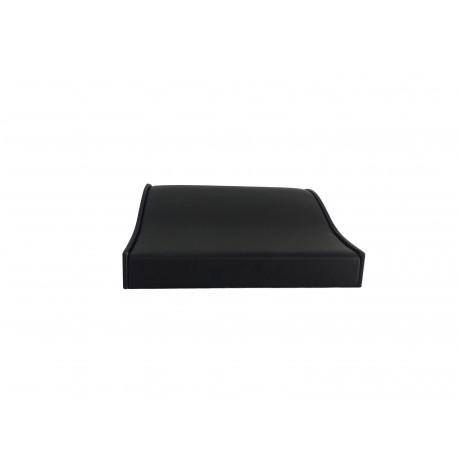 Bandeja expositor de pulseras curvada en polipiel negro