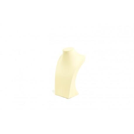 Busto expositor para collares en polipiel vainilla 30 cm