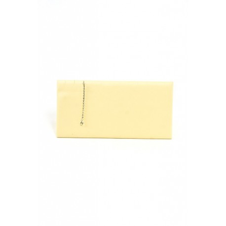 Expositor para pulseras horizontal en polipiel vainilla 25x12 cm