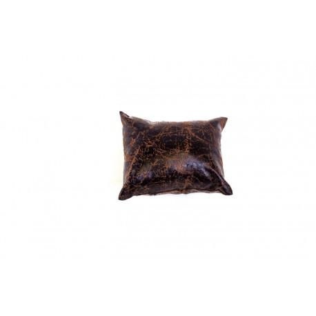 Almohadilla para pulseras en polipiel veteado marron 9 cm