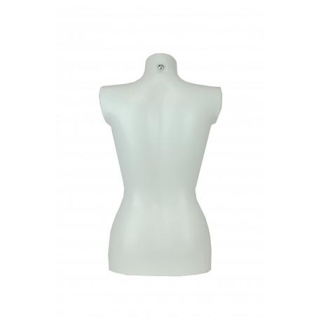 Busto medio cuerpo de mujer plástico blanco