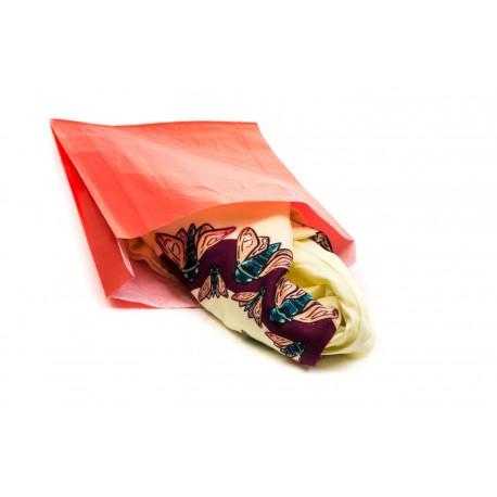 Sobres de papel celulosa rojo 18x4.5x29cm 100 unidades