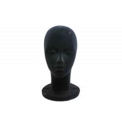 Cabeza de mujer en porexpan negro