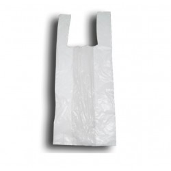 Bolsas de plástico camiseta blanco 35x50cm