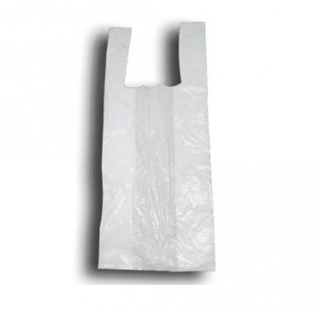 Bolsas de plástico camiseta blanco 40x50cm