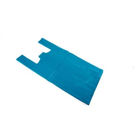 Bolsas de plástico camiseta azul 40x50cm