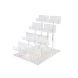 Expositor para monederos acrilico 8 und 4 alturas