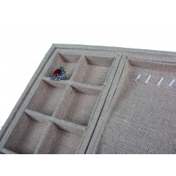 Bandeja expositora en lino grueso 37.5x28.5 cm