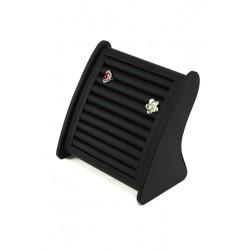 Expositor para anillos en polipiel negro 25x25 cm