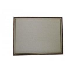 Bandeja expositora para joyeria en lino beige y madera 35x24 cm