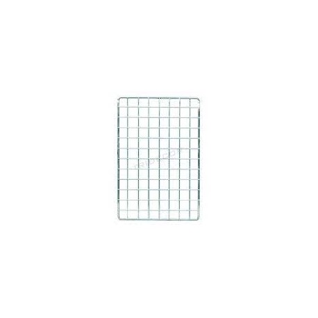 Malla expositora cromada de margen simple 60x120 cm