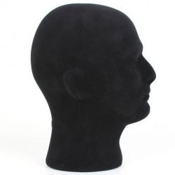 Cabeza de hombre en porexpan negro