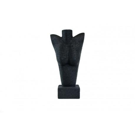 Expositor para joyería forma de busto revestido de cuerda negra
