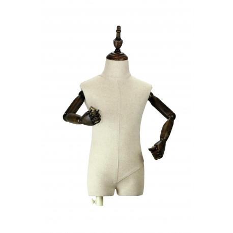 Busto infantil regulable tela brazos articulados