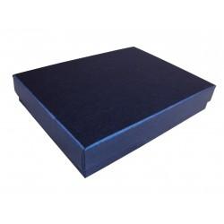 Cajita para joyería color azul 16.5x12.5x3cm 12 und