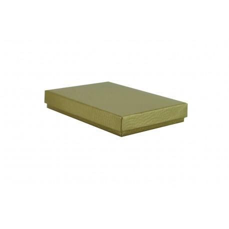 Cajas para joyas cartón rugoso dorado 5x4x3cm