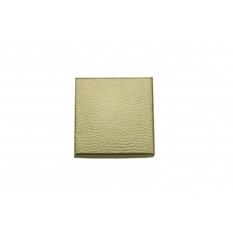 Cajas para joyas cartón rugoso dorado 7x7x2cm