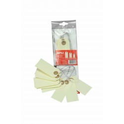 Etiquetas para ropa beige lazo de alambre
