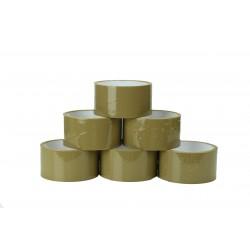Cinta adhesiva marrón 6 unidades