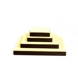 Conjunto expositor de joyería 4 piezas cuadradas vainilla/chocolate