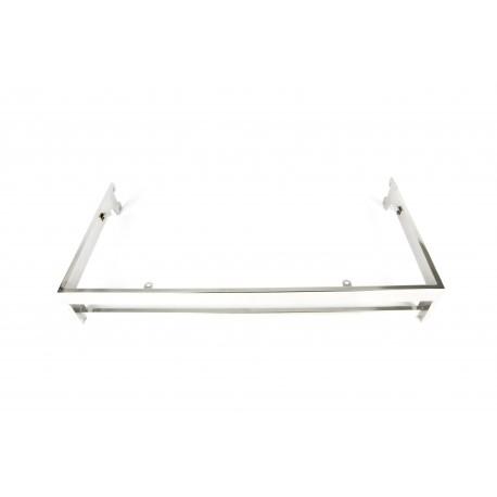 Soporte de estante con colgador para cremallera 60x30 cm