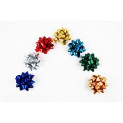 Estrellas adhesivas colores metálicos 5x5x3cm
