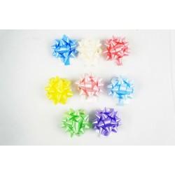 Estrellas adhesivas para regalo varios colores 5x5x3cm