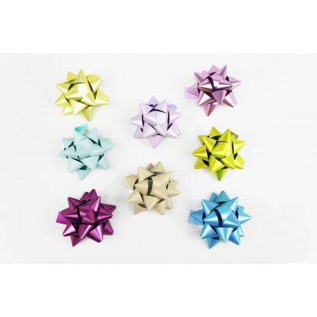 Estrellas para regalos colores metálicos 8x8x4cm