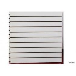 Panel de lamas color blanco mate 12 guías 120x120 cm