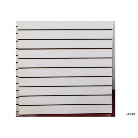 Panel de lamas 120X120CM color blanco mate 12.5 guías