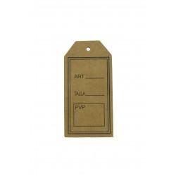 Etiquetas para ropa marrón