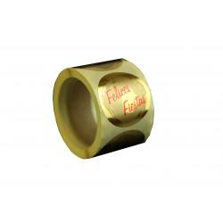 Etiquetas adhesivas para regalos mensaje felices fiestas fondo oro