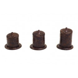 Expositor de anillos polipiel color marrón 3 alturas