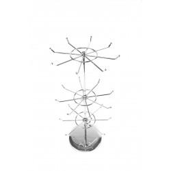 Expositor para joyería 3 coronas giratorias