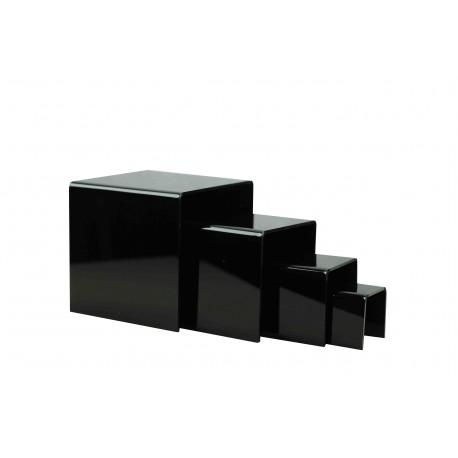 Conjunto expositor acrílico forma U color negro 4 alturas