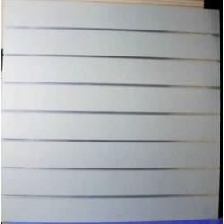 Panel de lamas 120X120CM color gris mate 7.5 guías de aluminio