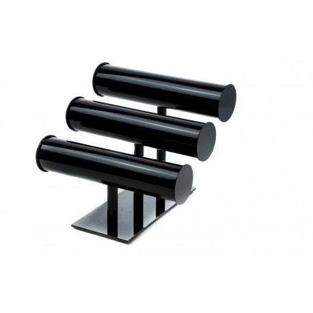 Expositor para pulseras acrílico negro 3 alturas