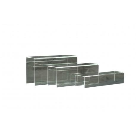 Expositor metacrilato rectangular forma U 3 alturas