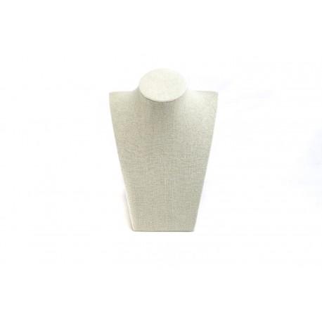 Expositor para collares lino beige 21.5x15x9cm