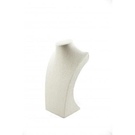 Expositor para collares lino beige 30x11.5x10.5cm